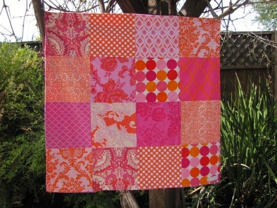 32x32 Tropical Punch Baby Blanket Ready to Ship