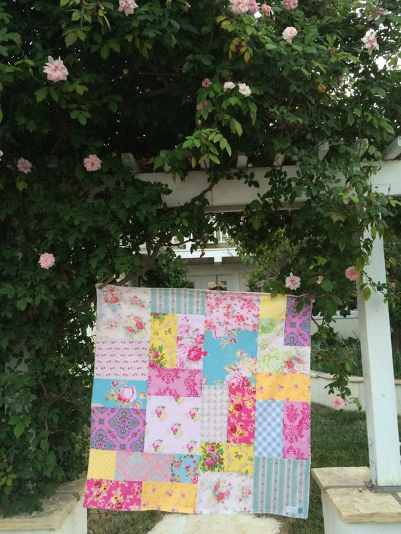 32x32 Cottage Patchwork Blanket Ready to Ship