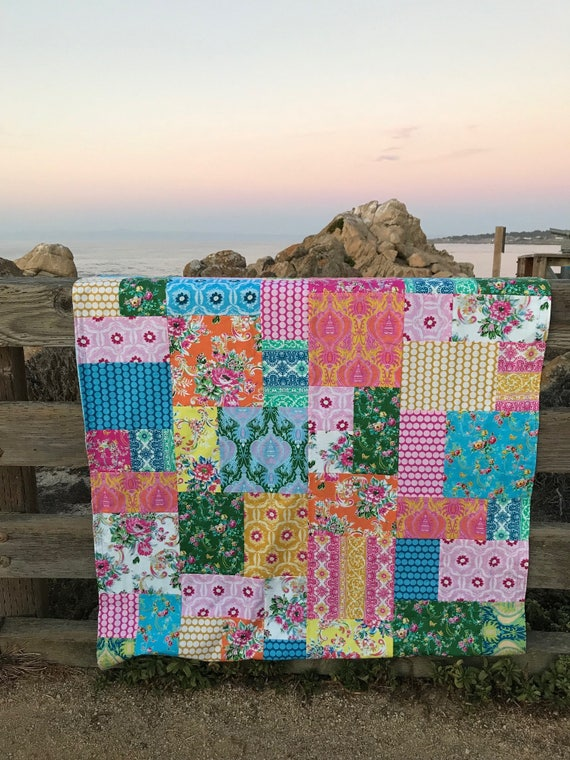 Jennifer Paganelli Sugar Beach Patchwork and Minky Blanket