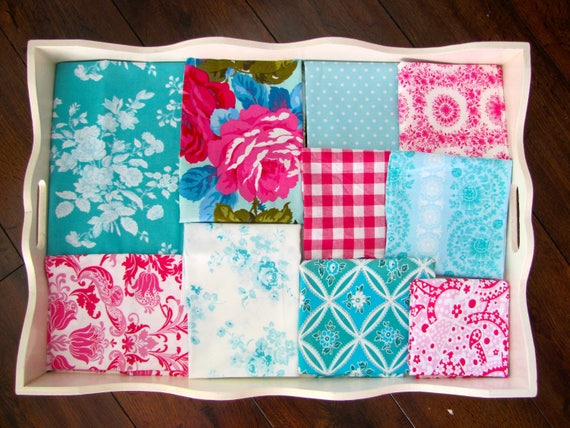 Jennifer Paganelli Teal & Fuchsia Minky Blanket Made to Order