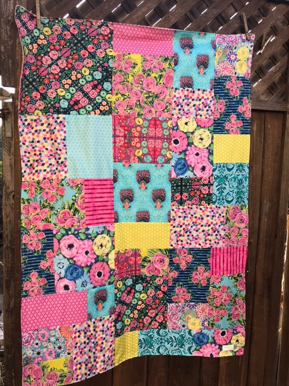 Jennifer Paganelli St John Patchwork and Minky Blanket