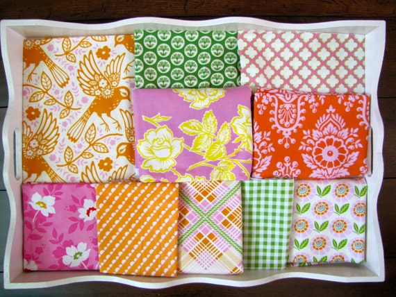 40X56 Heather Bailey Orange, Pink & Green Quilt Made to Order
