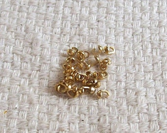 Vintage Gold-Plated Bead Tip Sets