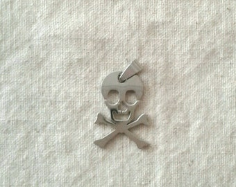 SALE - Stainless Steel Skull and Crossbones Pendant - 29 x 21 mm