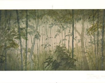 Rashomon - scenic elevations from a theatre production - 2 pieces
