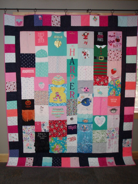 Custom Order For Full Size Quilts Made From Your Baby Clothes Etsy