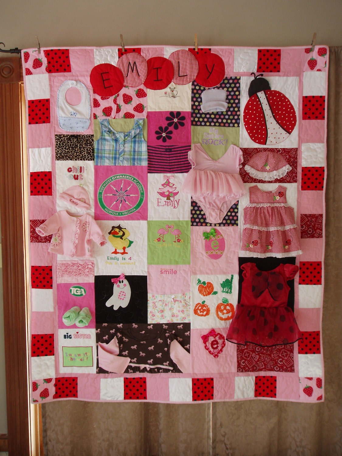 Custom Orders Large Throw Size Patchwork Quilt Made From