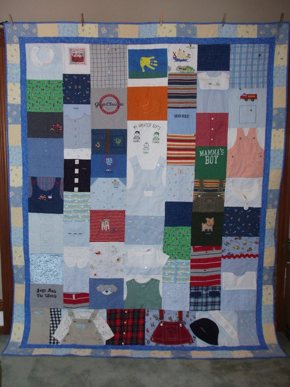 Full Size Quilt Made From Baby Clothes Custom Orders Etsy