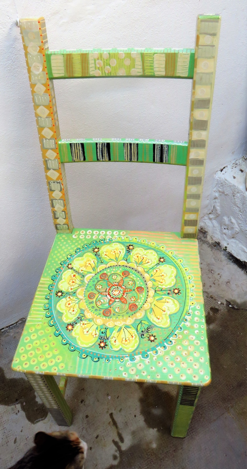 Painted wooden chair Pamdesign by Pam marwede