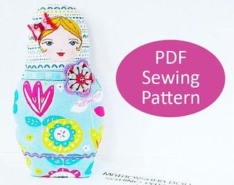 PDF Sewing Pattern, Soft Matryoshka Doll Template, Russian Doll Plush Sewing Pattern, Rag Doll Template, DIY Babushka