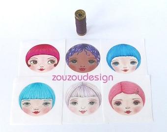 Fabric Doll Faces, Rag Doll Making Supplies, Cloth Doll Heads