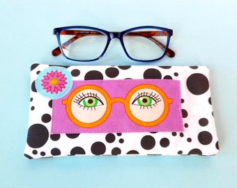 Soft Eye Glasses Case, Sunglasses Sleeve, Sunnies Pouch, Christmas Gift, Specs Case