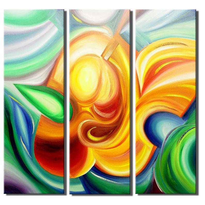 Decorate your large wall with Abstract Music Art Painting  image 0