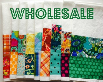 Wholesale - 12 Kitchen Towels - domestically made 100% cotton flour sack tea towels - Made to order