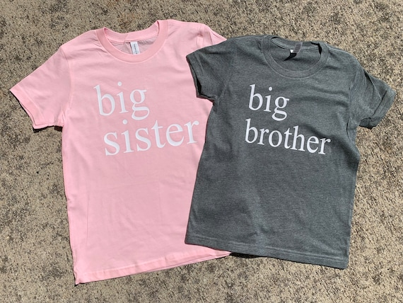SMITTEN and COMPANY Big Sister Big Brother Little Sister Little Brother Tee