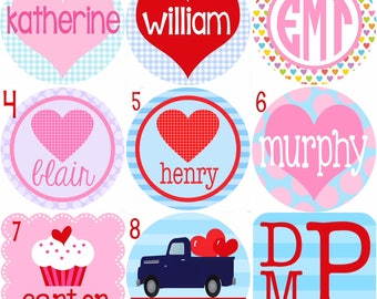VALENTINE SALE! Pick Your Design! Smitten and Company Monogrammed Personalized Valentine Tee