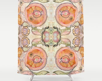 Shower Curtain Bohemian Colorful Neutral Design Boho Bathroom Art Accessories Hippy Chic Bath