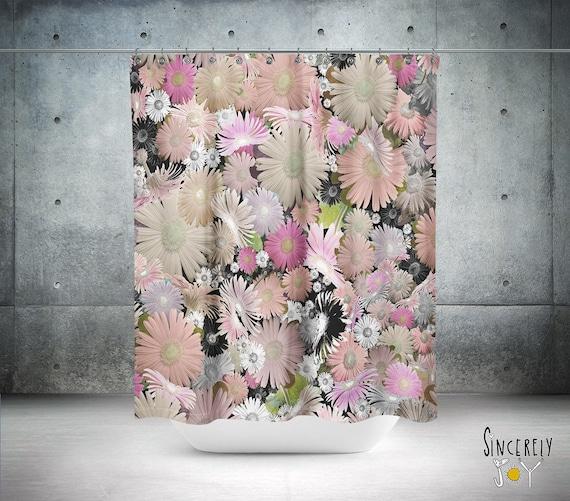 Floral Shower Curtain Folk Art Hippy