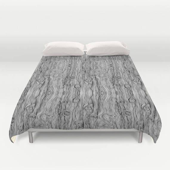 Abstract Black White Wood Grain Shabby Chic Duvet Cover Etsy