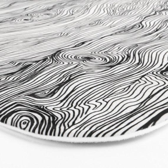 Black White Wood Grain Modern Art Bath Kitchen Mat Microfiber Abstract Rug Unique Decor Bathroom Accessories Bath Rug Abstract Mats Art Rugs