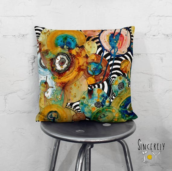 Abstract Neutral Throw Pillow Home Decor Bold Home Accessories Etsy