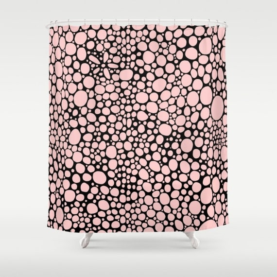 Black Pink Shower Curtain Funky Modern