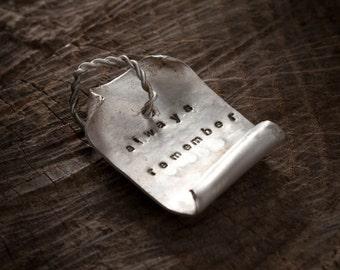 sterling silver pendant custom phrase