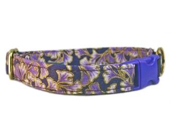 Cat Lover Gift, Purple Cat Collar, Girl Cat Collar, Safety Cat Collar, Elastic Cat Collar, Gift for Her, Cat Gift, Cotton Cat Collar