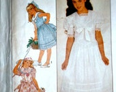 80 39 s Simplicity 8703 Gunne Sax Girls Dress, Special Occasion Dress Sewing Pattern, Size 10, 28 1 2 Breast