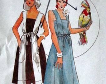 Vintage 70's Butterick 4258 Young Designer Kenzo Sewing Pattern, Misses Dress, Size 10, 32.5 Bust, Uncut FF, Boho 1970's Fashion