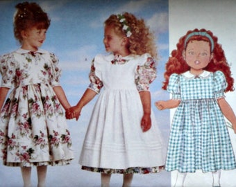 Butterick 4750 Sewing Pattern, Girls Dress And Pinafore, Size 4-5-6, Uncut FF, Party Special Occasion Dress, It's Enchanting Pattern