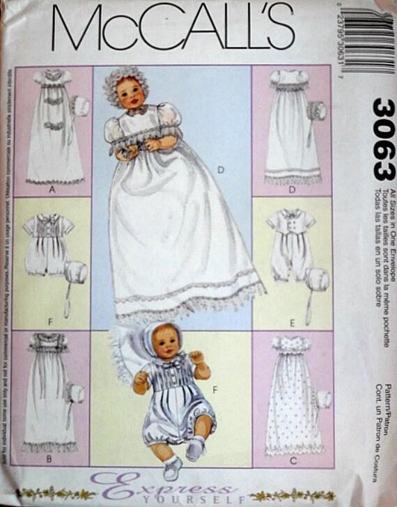 Patrón de costura de McCall 3063 vestido de bautizo de los | Etsy