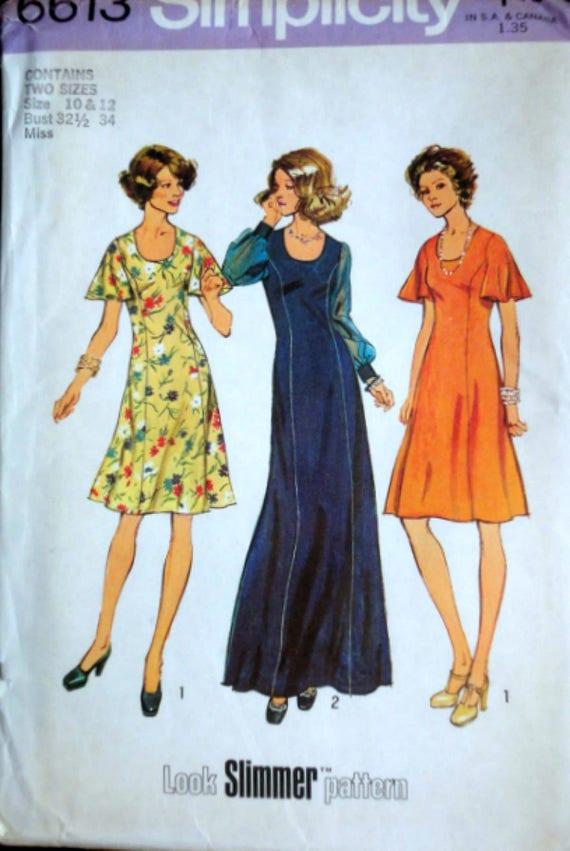 8c5264833 Vintage 70 s Simplicity 6613 Look Slimmer Sewing Pattern