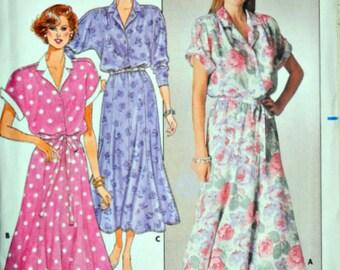 Vintage 80's Butterick 3725 Sewing Pattern, Misses Dress, Size 14-16-18, Bust 36-38-40, Uncut FF, 1980's Fashion