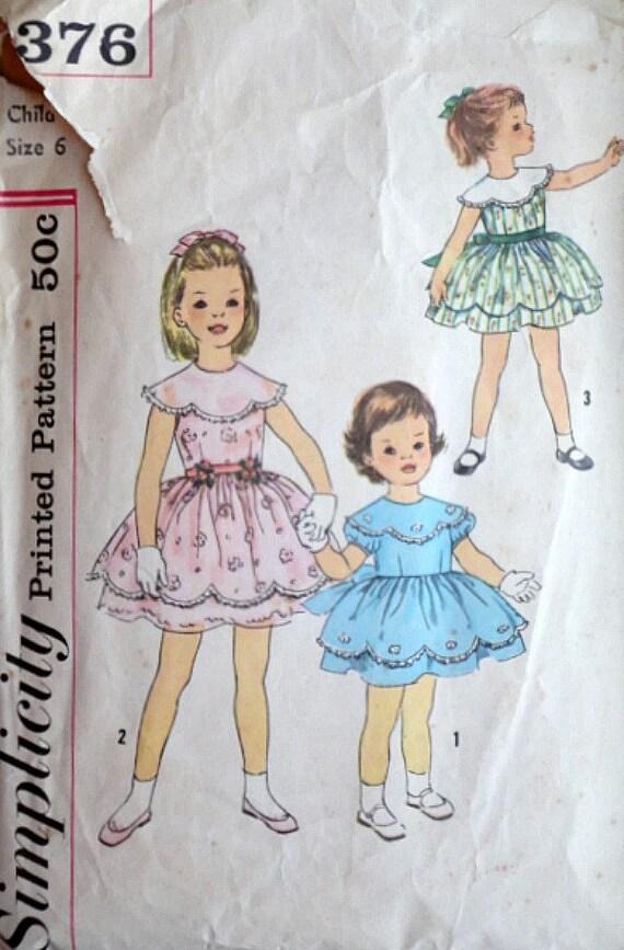 Vintage años 60 patrones de costura simplicidad 3376, una sola pieza ...
