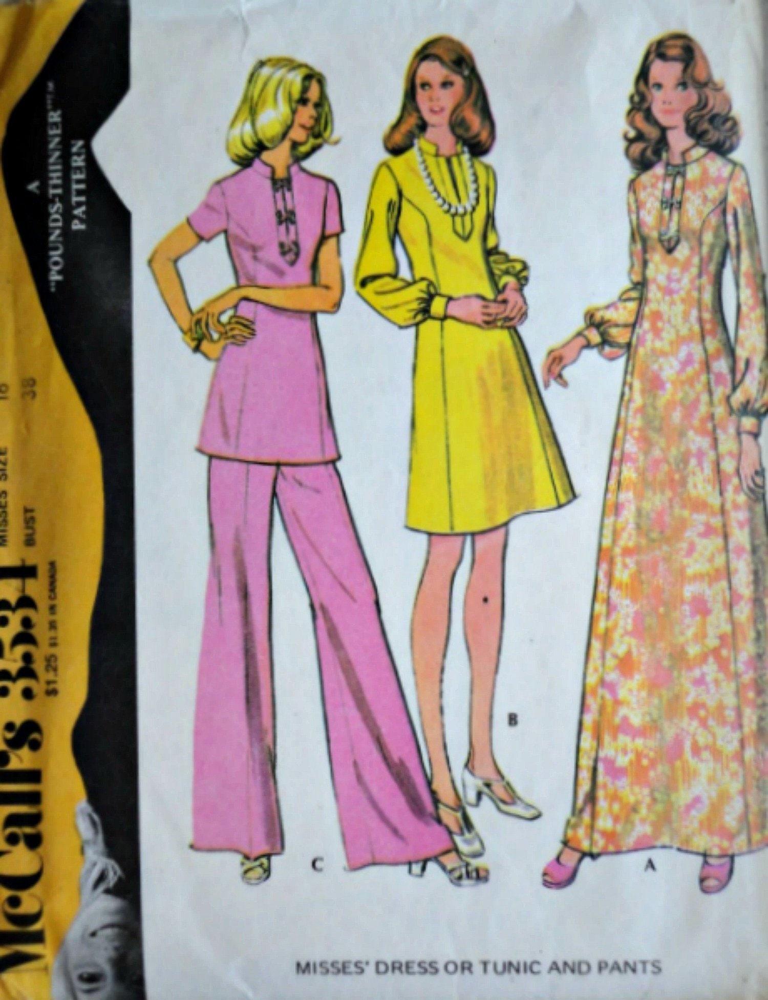 b08a0a2b8ffa Vintage anni   70 3534 cartamodello di McCall non trova