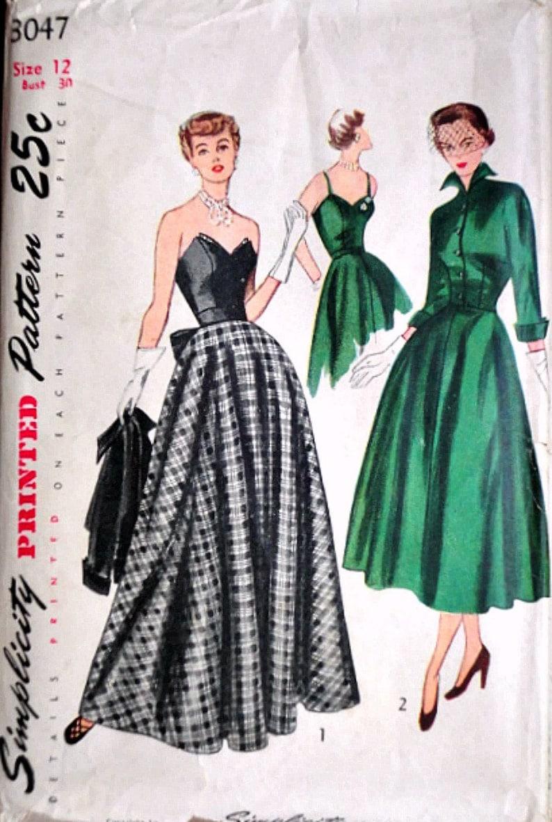 5d2854daf Vintage años 40 patrones de costura simplicidad 3047 | Etsy