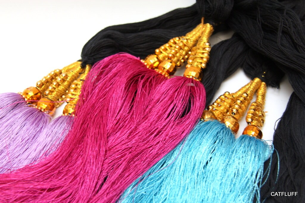 Large Indian Tassel Camel Swag Curtain Tie Back Hair Etsy