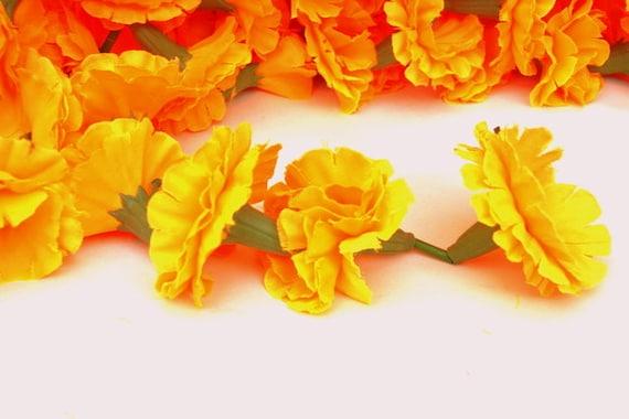 Orange künstliche Ringelblume Girlanden Blumen Dekoration 5 Fuß Stränge SET 20