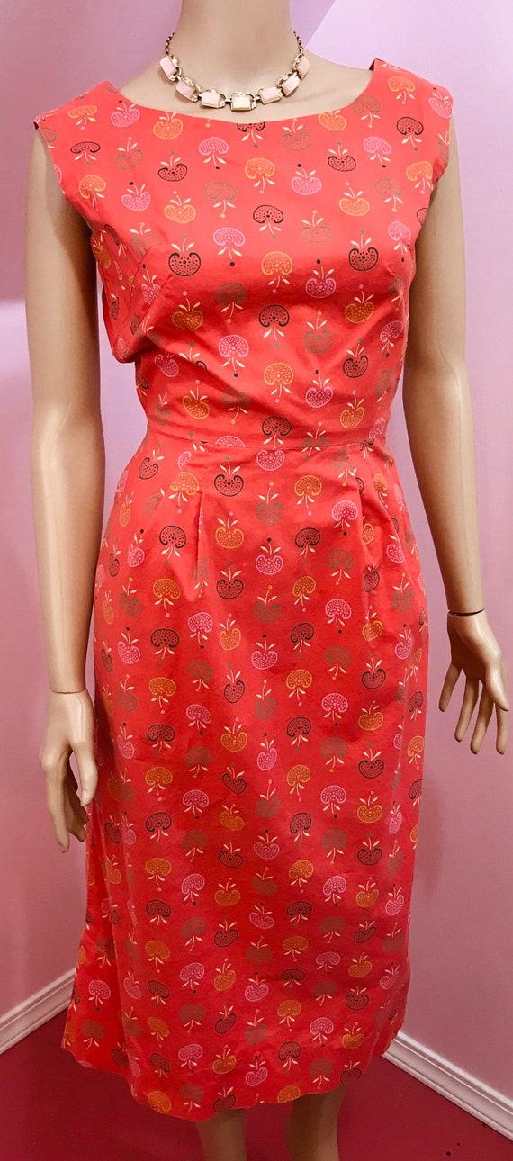 Vintage 40s Novelty Print Dress. Apple Novelty Pr… - image 3