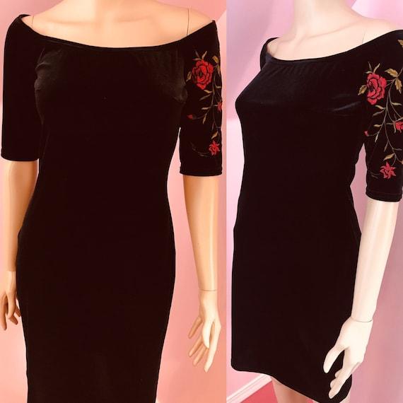 Vintage 90s Jessica McClintock Gunne Sax Dress.Bla