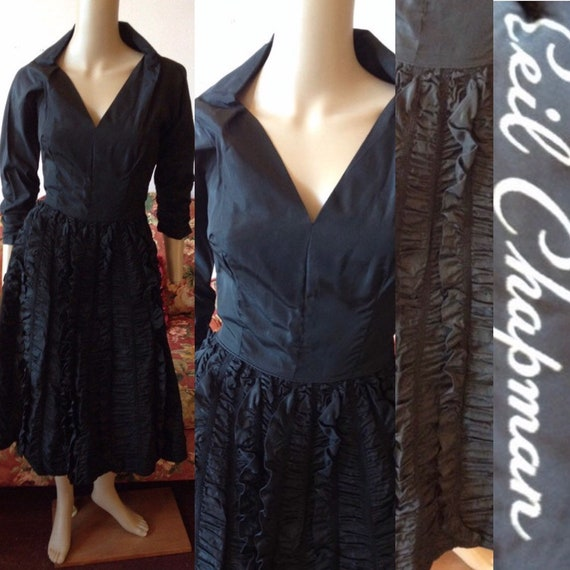 Vintage 1950s Dress. 1950s Ceil Chapman Dress.50s… - image 1