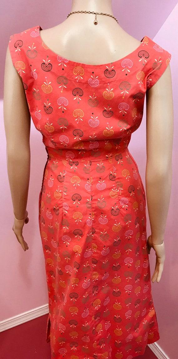 Vintage 40s Novelty Print Dress. Apple Novelty Pr… - image 9