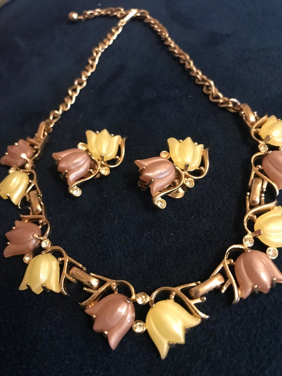 Vintage 50s Thermoset Necklace Set. 50s Necklace &