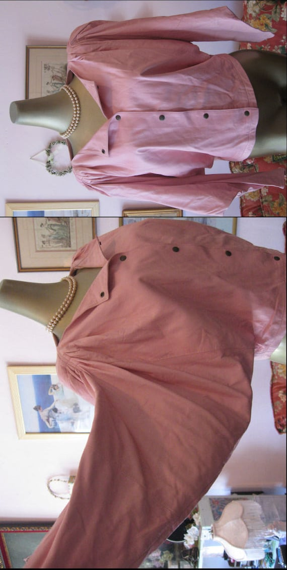 Vintage 80s Pink Leather Jacket.Italian Jacket.Ita