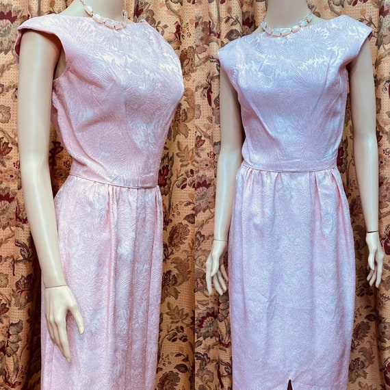 Lovely Vintage 60s Pink Dress.60s Gown.Long Dress.