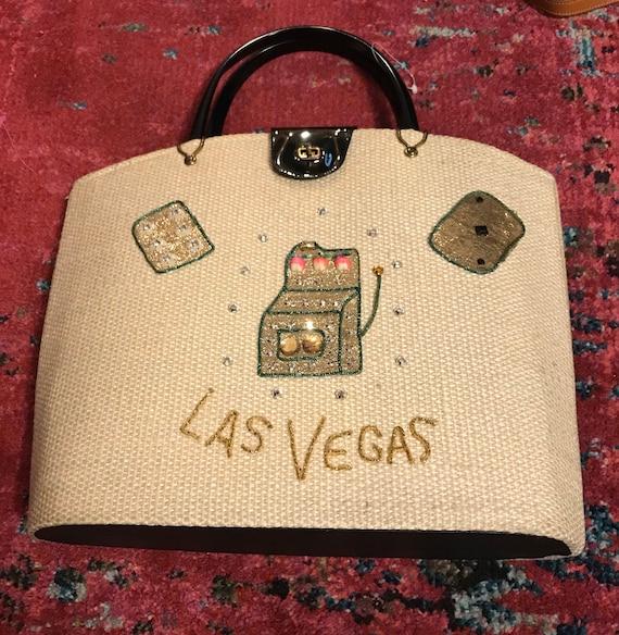 Vintage 60s Las Vegas Purse.VLV Purse. 1960s Las V