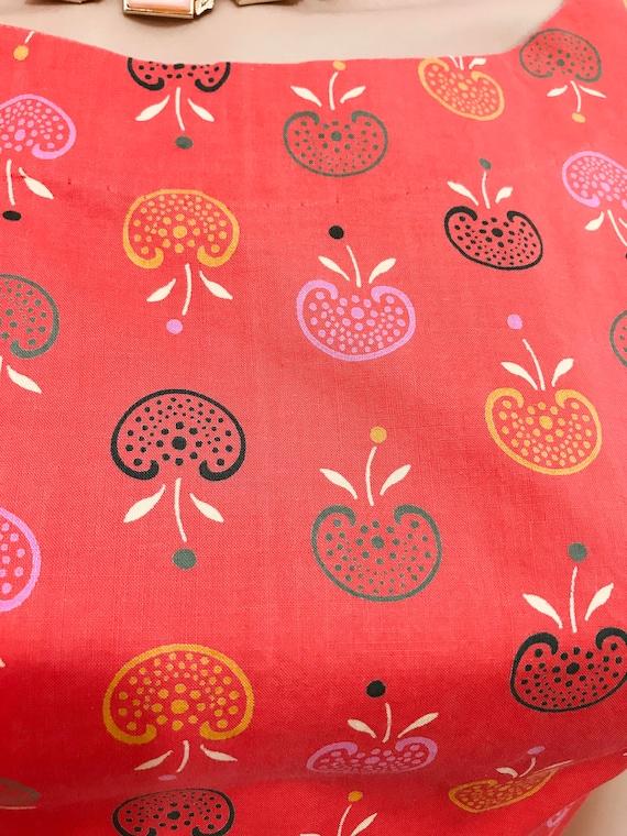 Vintage 40s Novelty Print Dress. Apple Novelty Pr… - image 10