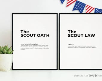 picture regarding Boy Scout Oath in Sign Language Printable called Scout oath Etsy