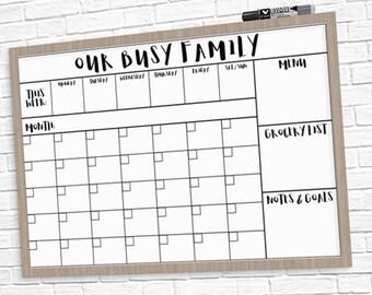 Large Calendar Etsy
